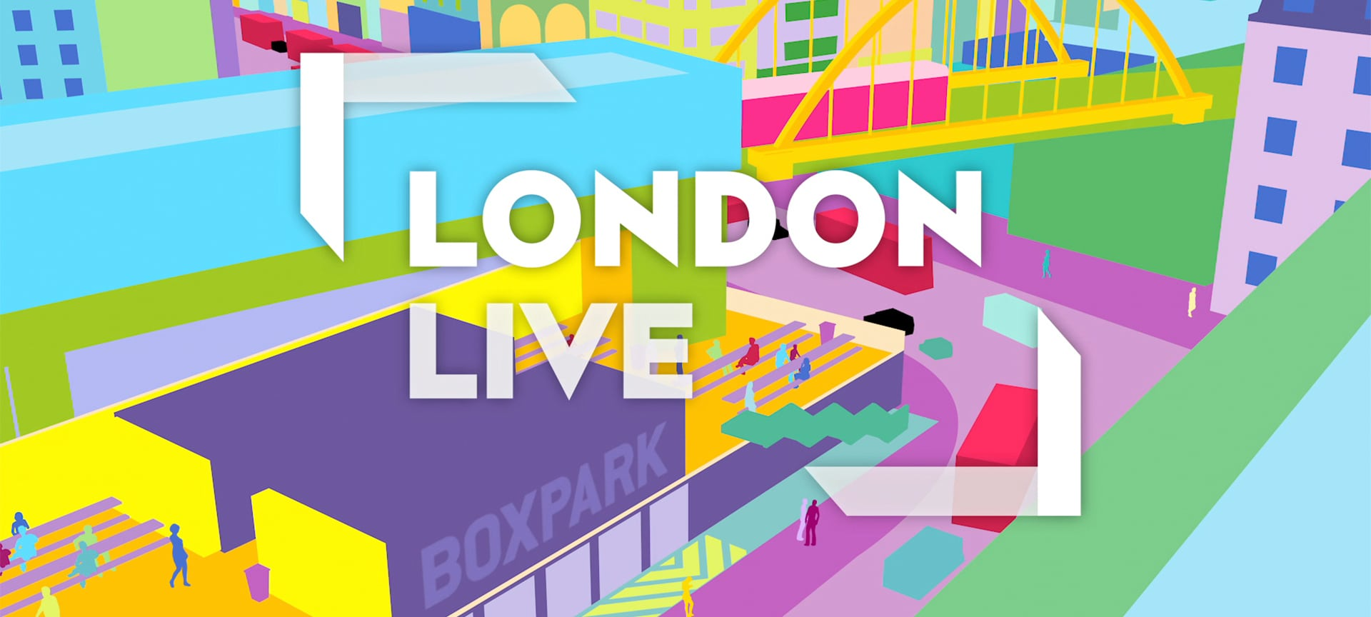 Illustrations of The Thames, Oxford Circus, East London's Boxpark and The City have been brought to life as animated idents for London Live.