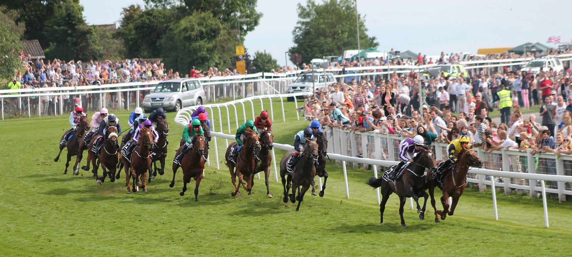 The Derby Stakes, popularly known as the Derby, is a Group 1 flat horse race in England open to three-year-old colts and fillies. It is run at Epsom Downs Racecourse in Surrey over a distance of one mile, four furlongs and 6 yards (2,420 metres), usually on the first Saturday of June each year.