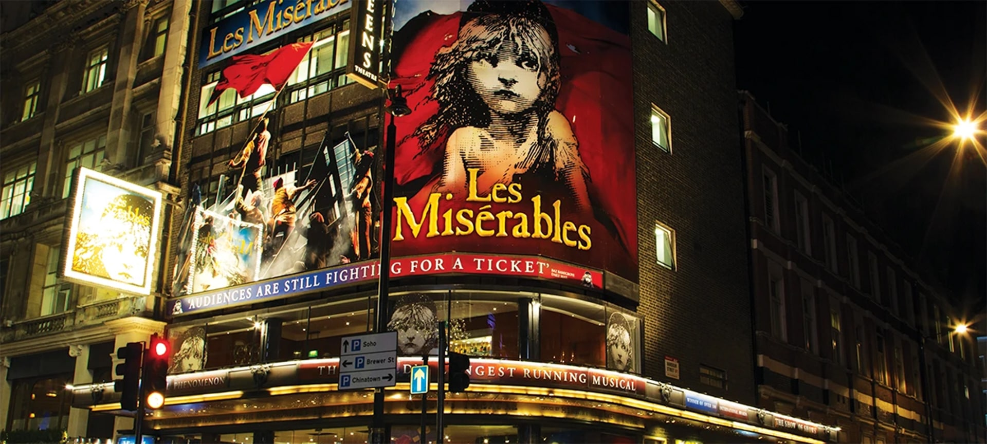 Running in the West End for a whopping 32 years and counting, Les Miserables is the longest-running musical in the West End (and the second longest-runner in the world).
